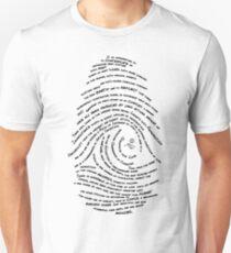 Darwin's Fingerprint by Tai's Tees Unisex T-Shirt