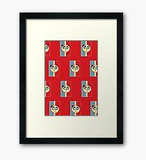 Panda Retro 3 (Pattern 2) Framed Print