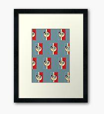 Panda Retro 3 (Pattern) Framed Print