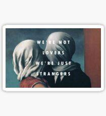 Pegatina Los amantes x extraños