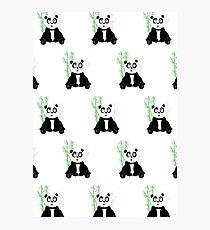 Panda Girl - Green (Pattern) Photographic Print