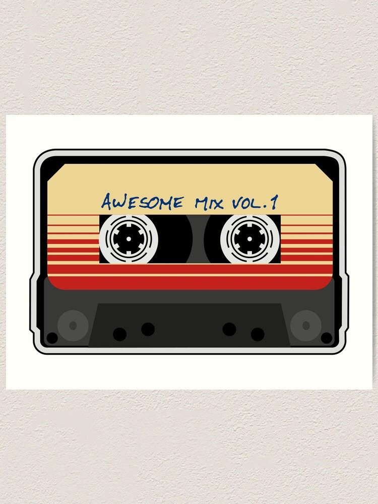 Alternate view of Awesome Mixtape Vol 1, Tape, Music, Retro Art Print