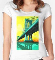 san francisco bridge Women's Fitted Scoop T-Shirt