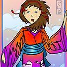 Girl of Cranes by elledeegee