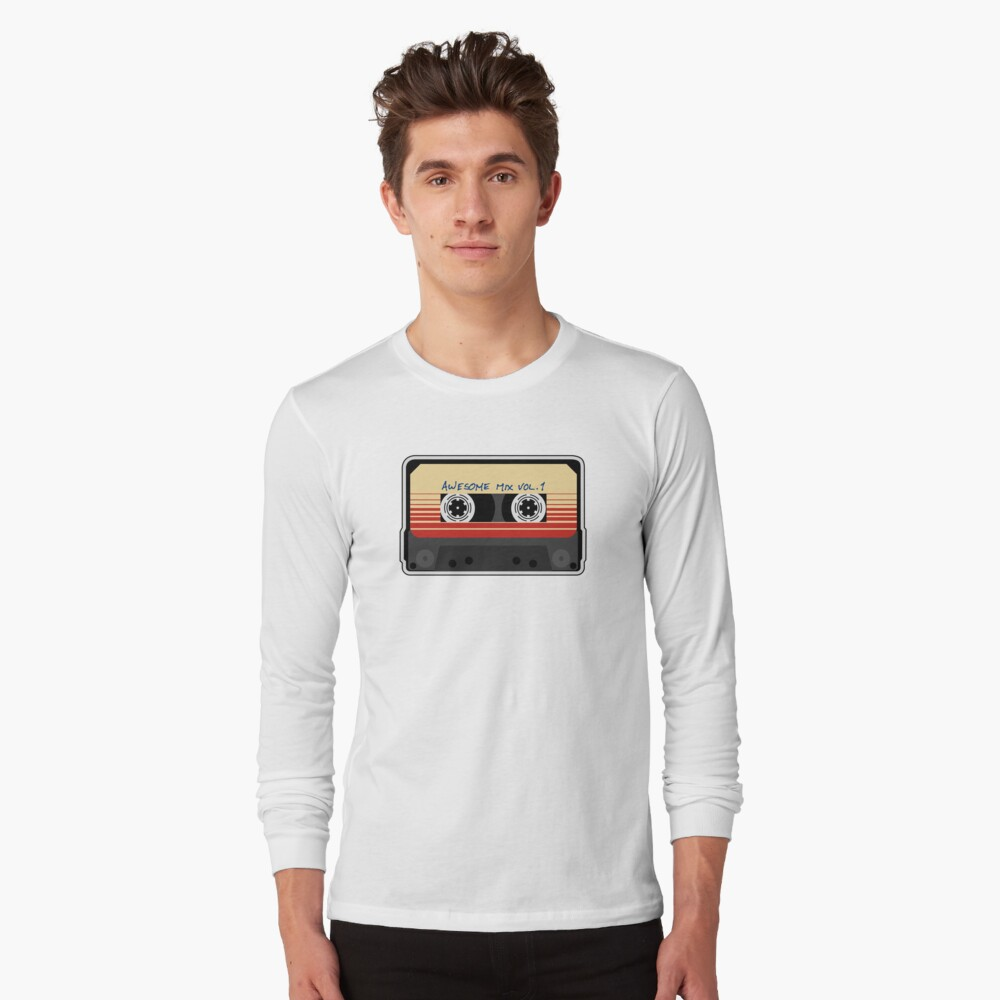Awesome Mixtape Vol 1, Tape, Music, Retro Long Sleeve T-Shirt