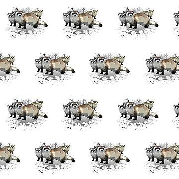 Ferrets (Pattern 1) by Adamzworld