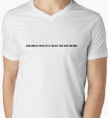Meanwhile Up In Heaven Lyrics Mens V-Neck T-Shirt