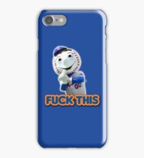 Mr. Met - Fuck This - Middle Finger iPhone Case/Skin