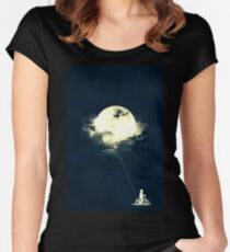 baloon moon Women's Fitted Scoop T-Shirt