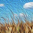 Charente Maritieme France Corn field, oil paint effect, by funkyworm