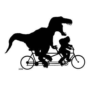 Gone Squatchin cycling with T-rex by NewSignCreation