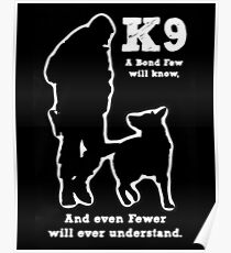 Police Military Dog K9 Poster