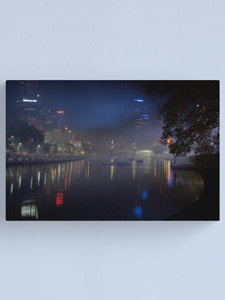 Alternate view of Melbourne after dark Canvas Print