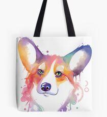 Rainbow corgi Tote Bag