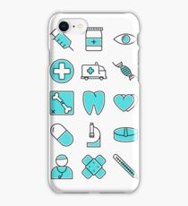 Medical Icons Symbol Pattern iPhone Case/Skin