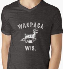 The ORIGINAL Waupaca Wis. Stranger Things Shirt! - Dustin's shirt Men's V-Neck T-Shirt