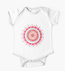 warm colour floral mandala Kids Clothes