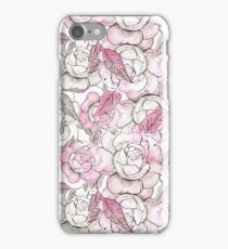 Silver peony dreams iPhone Case/Skin