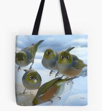 Don't Stare... It's Rude!! - Silver-Eyes - NZ Tote Bag