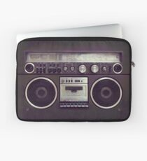 80s Retro Boombox Cassette Player Laptop Sleeve