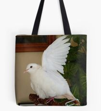 Hands Up... Spray The Armpit too!! - White Ringneck Dove - NZ Tote Bag