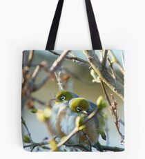 Love Is... Snuggling Up On A Cold Winters Day.. - Silver-Eyes - NZ Tote Bag