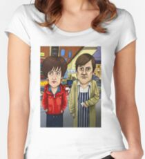 Roy Cropper and Hayley Cropper Coronation Street Women's Fitted Scoop T-Shirt