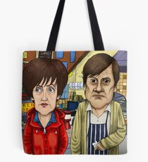 Roy Cropper and Hayley Cropper Coronation Street Tote Bag