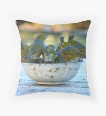 Make Room, My Feet Are Freezing Down Here!! - Silver-Eyes - NZ Throw Pillow