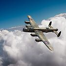 Lancaster B X KB799 above clouds by Gary Eason