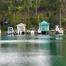 Boathouses Narooma by Brett Thompson