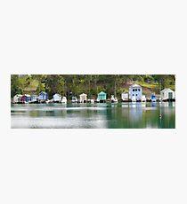 Boathouses Narooma Photographic Print