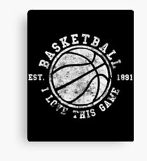 Basketball I Love This Game 1891 Vintage Look Retro Canvas Print