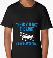 The Sky Is Not The Limit It's My Playground - Funny Airline Pilot Airplane Helicopter Flying Flyer Gift Long T-Shirt