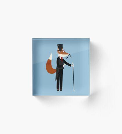 Mr Fox Takes a Stroll Acrylic Block