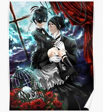 Eternal Devotion, Perpetual Curse - Sebastian & Ciel (Kuroshitsuji) Poster