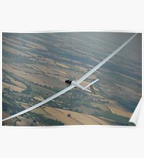 Glider soaring cross country. Poster