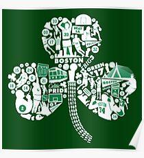 boston celtics flowers Poster