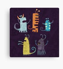 Secretly Vegetarian Monsters Canvas Print