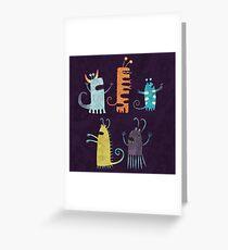 Secretly Vegetarian Monsters Greeting Card