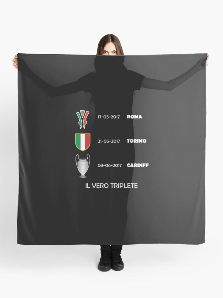 Triplete By SkpixelRedbubble Scarf Il Vero 2017 Juventus 8OnwkX0P