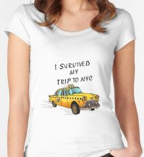 I Survived My Trip To NYC Women's Fitted Scoop T-Shirt