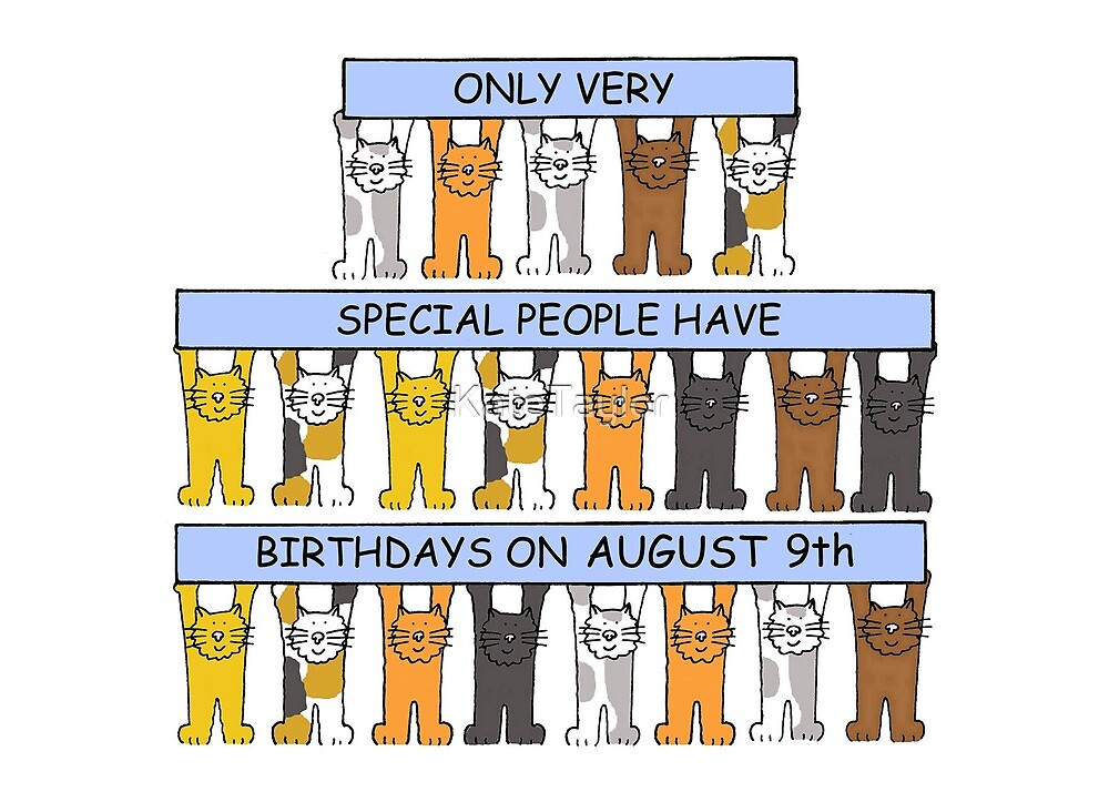 August 9th Birthday Cats. by KateTaylor