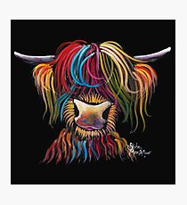 Scottish Hairy Highland Cow ' NELLY ' by Shirley MacArthur Photographic Print