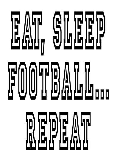 COL EAT SLEEP FOOTBALL REPEAT HOODY HOODIE PLAYER FAN DESIGN GIFT PRESENT