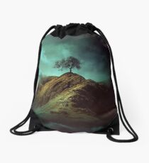 Lonely tree Drawstring Bag
