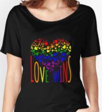 Camiseta ancha para mujer Love Wins, Marriage Equality camiseta de diseño.