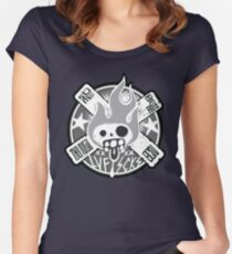 The X Skull Women's Fitted Scoop T-Shirt