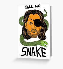 Call Me Snake Greeting Card