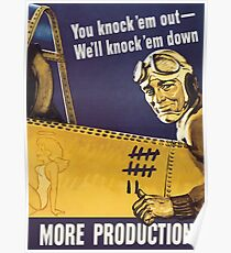 We'll knock 'em down - WW2 Propaganda  Poster
